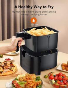 TaoTronics Air Fryer, Large 6 Quart