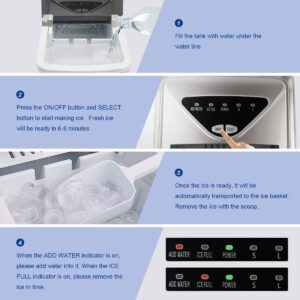 fooing ice maker machine with 26 lb.