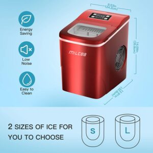 milcea ice maker 26lb. 9 bullet ice