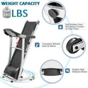 LIRNHE Merax 1.5HP Easy Assembly Folding Treadmill