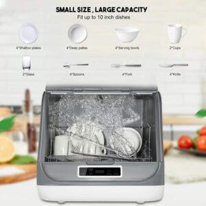 KKTECT Portable Countertop 5 in 1 Multifunctional Dishwasher