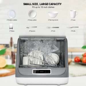 KKTECT Portable Countertop 5 in 1 Multifunctional Dishwasher