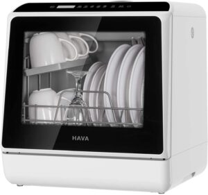 HAVA 5L Portable Countertop Dishwasher 6 Programs