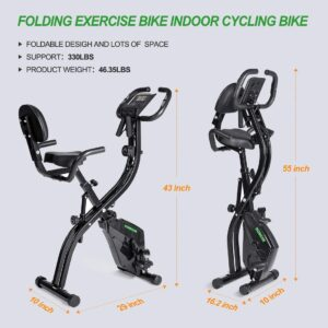 HOMGIM Folding Magnetic Exercise Bike